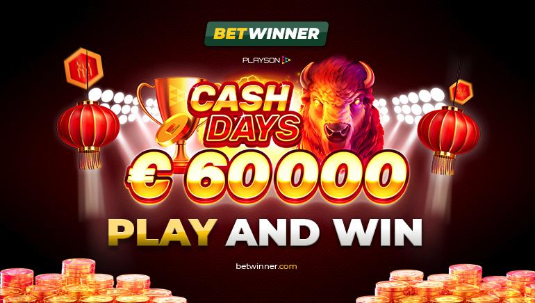 €60,000 February Cash Days Sedang Berlangsung di Betwinner Casino