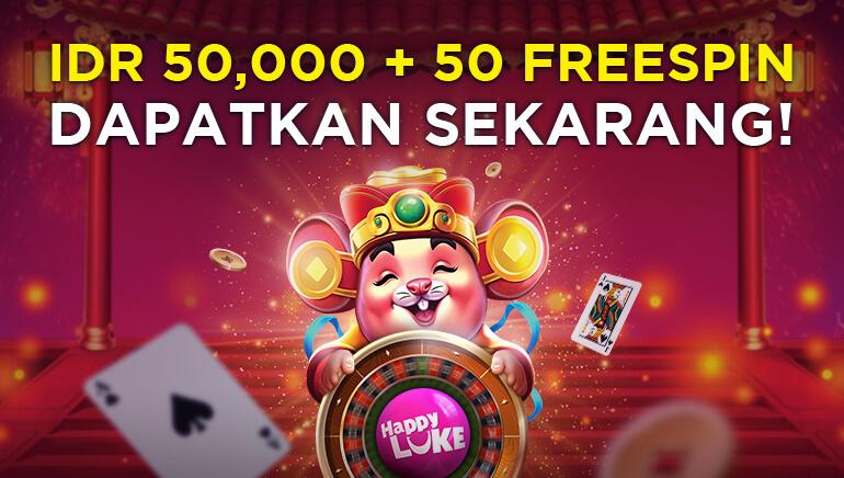 Happy Luke Casino Menawarkan IDR 50.000 + 50 Putaran Gratis