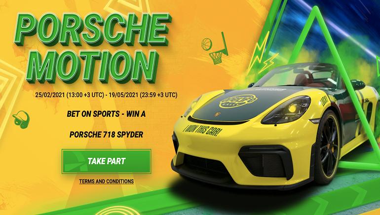 BetWinner Menaikkan Gigi dengan Promosi Porsche Motion Mewah