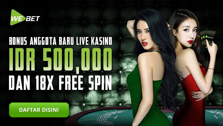 Mainkan Permainan Live Favorit Anda dengan Bonus Rp500.000 di WeBet